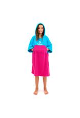 Surflogic Surflogic Poncho Cyan/Pink Neon Junior size