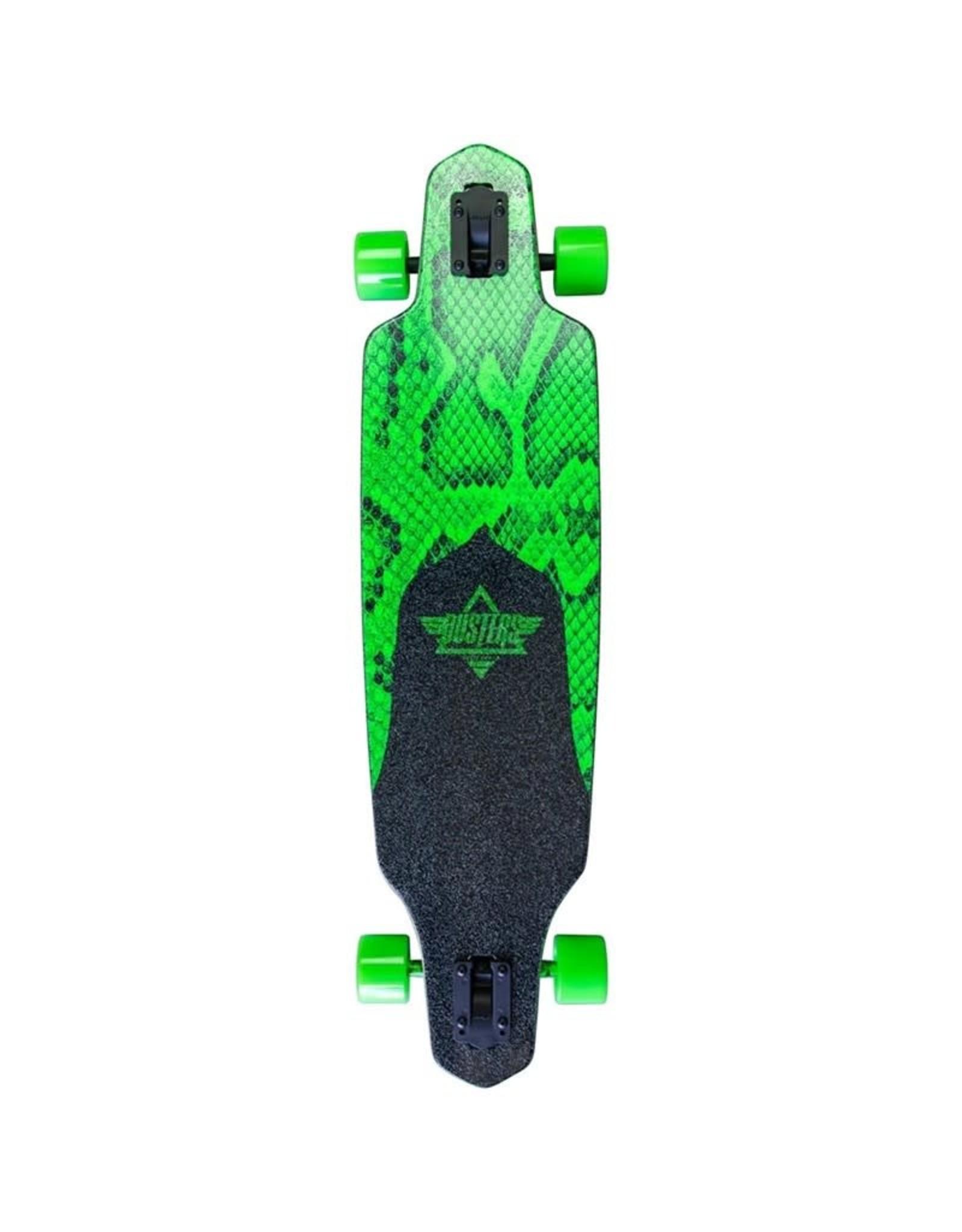 Dusters Dusters 38.0 Channel Snakeskin Complete Longboard Neon Green