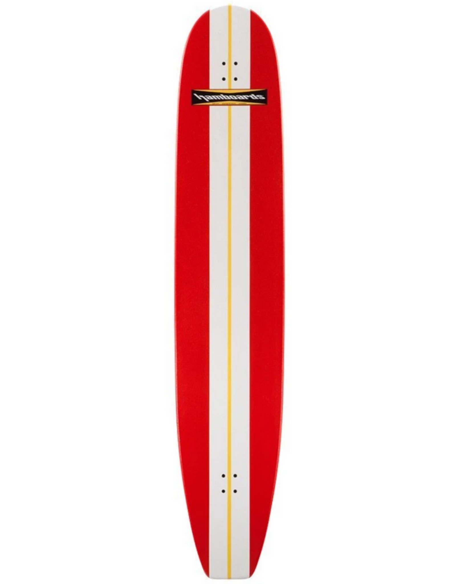 Hamboards Hamboards Classic Surfskate 74 in Painted Birch Red White