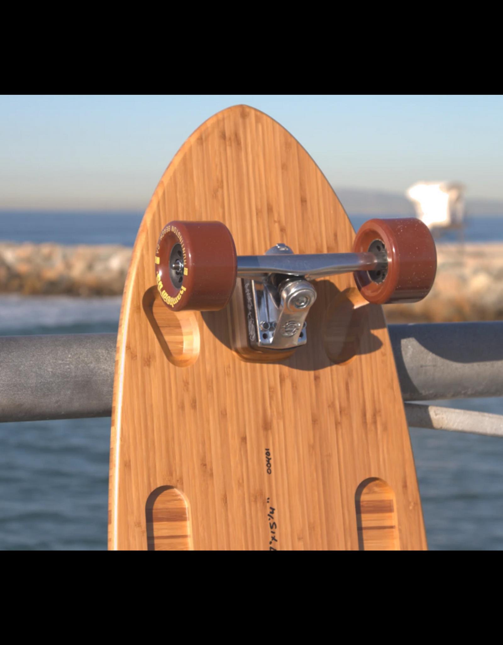 "Hamboards Hamboards Pinger Surfskate Natural Bamboo 67"" HST200"
