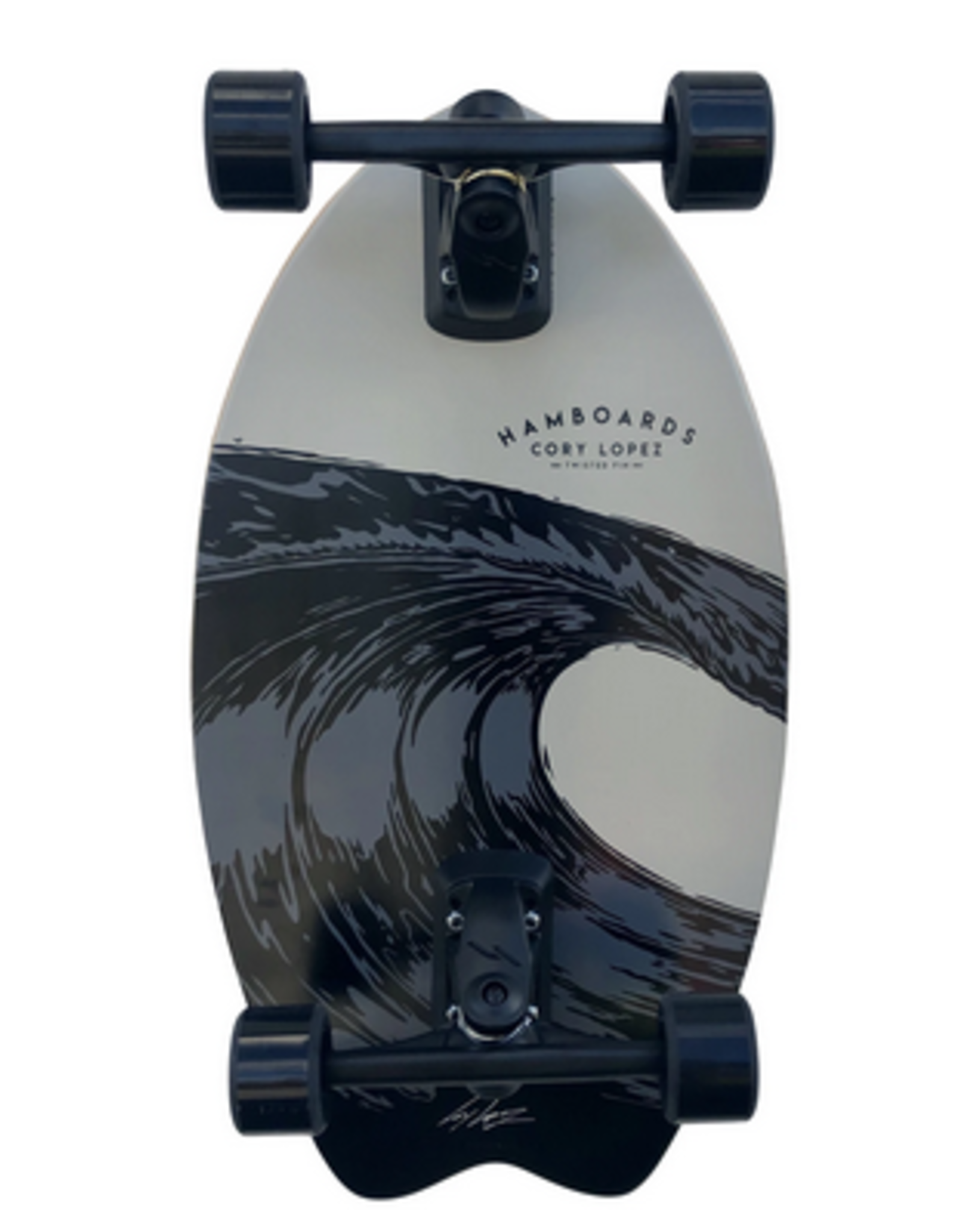 """Hamboards Hamboards 29"""" Twisted Fin Surfskate Cory Lopez Gray"""