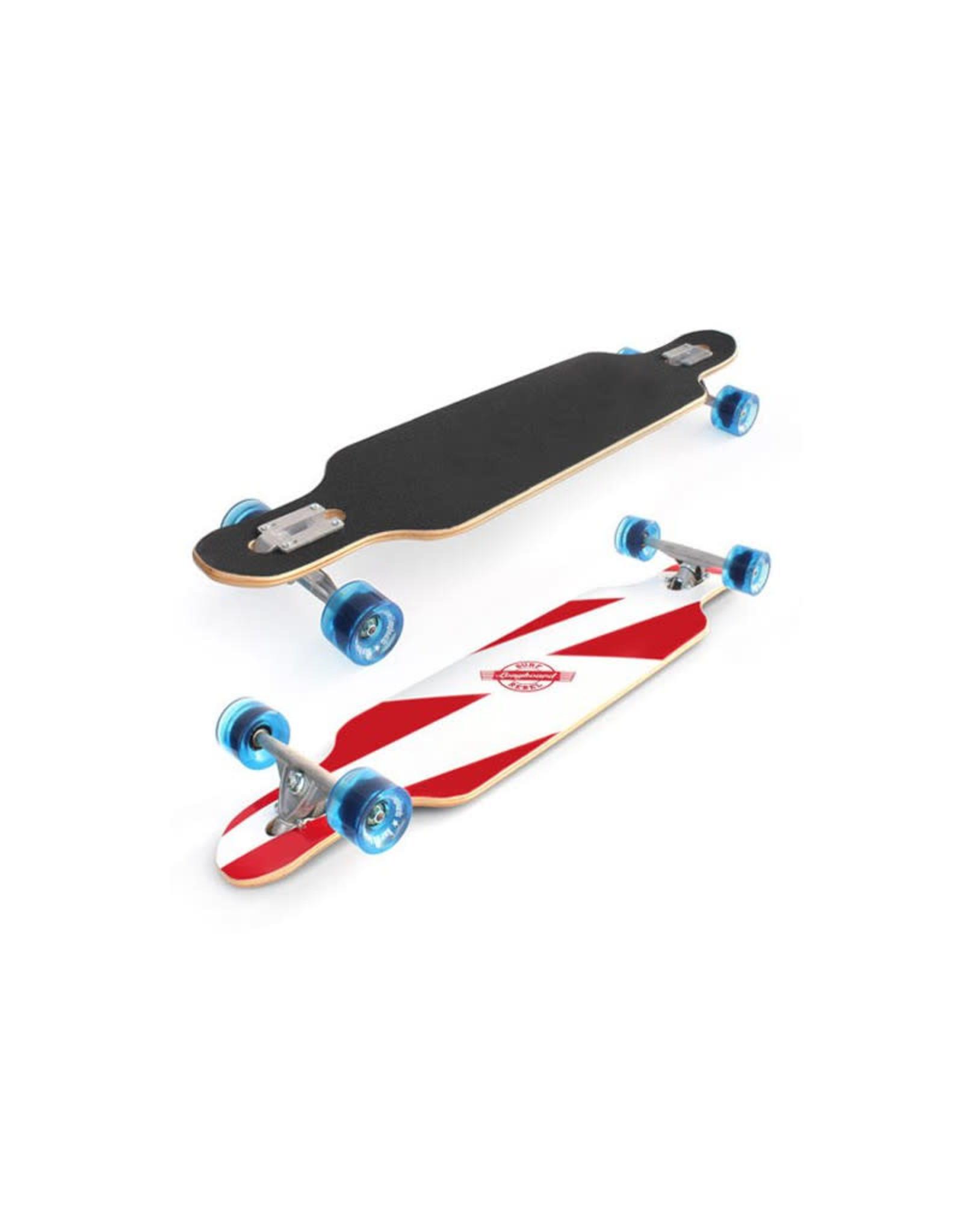 "Surf Rebel Surf Rebel Longboards 39"" Free Style White Lightning Longboard Complete"