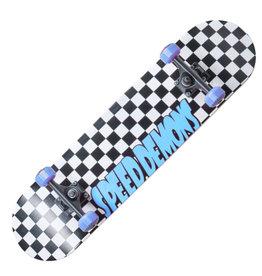 Speed Demons Speed Demons 7.75  Checkers Complete Skateboard Black/Blue