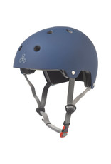 Triple Eight Triple Eight Dual Certified Helmet Blue Rubber