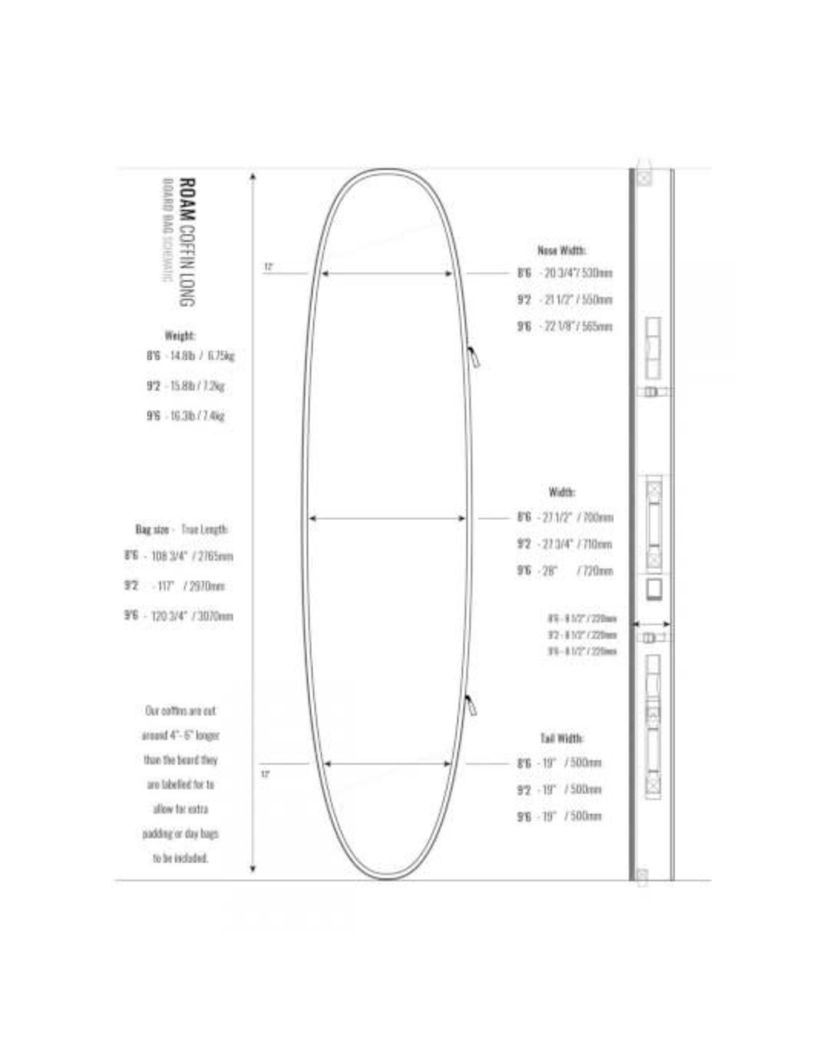 Madness Boardbag Surfboard Coffin 9.2 Double Triple
