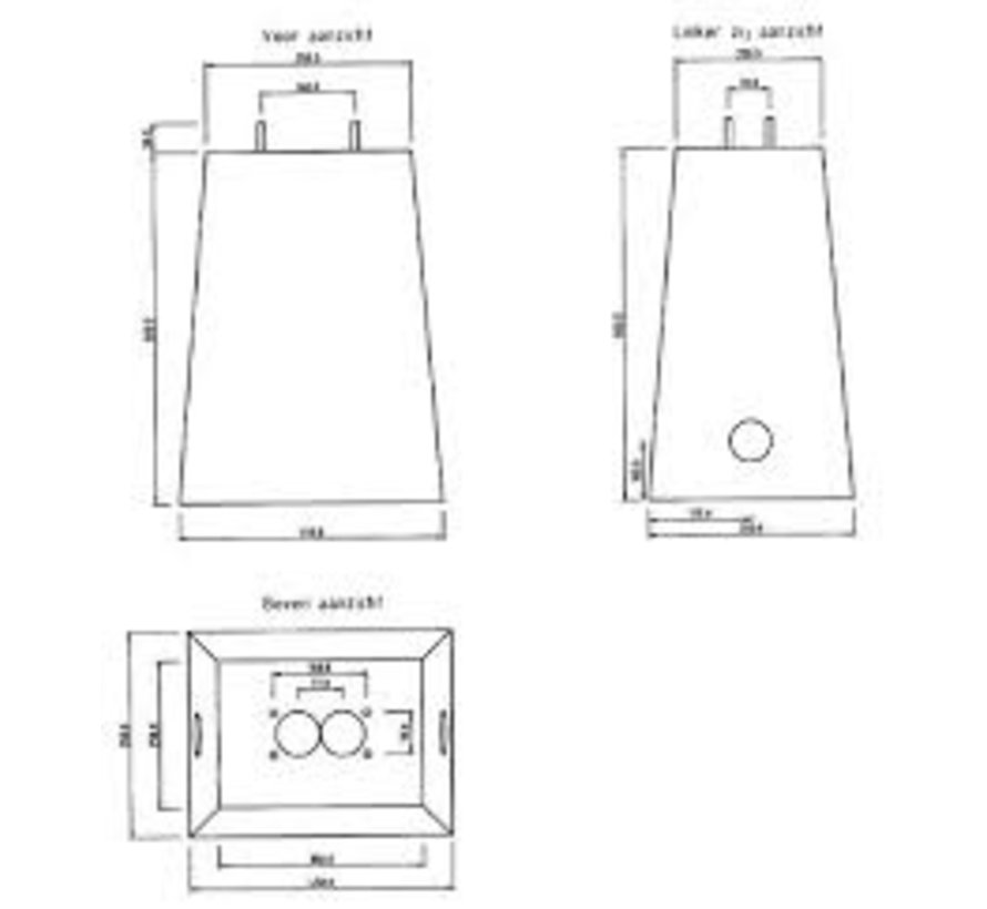 Beton sokkel voor frame laadpaal AMTRON COMPACT