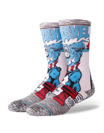 STANCE CAPTAIN AMERICA COMIC GREY
