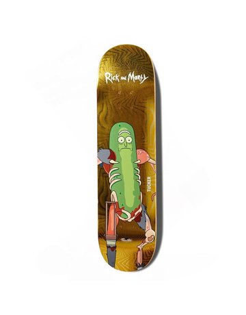 PRIMITIVE TUCKER PICKLE RICK DECK D2, YELLOW