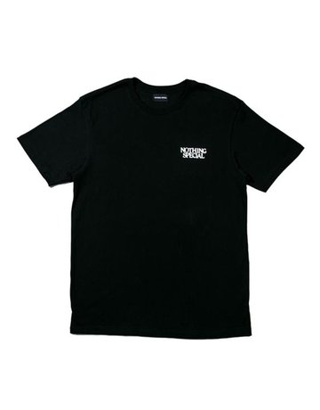 NOTHING SPECIAL NOTHING SPECIAL, N.S. FOUNDATION S/S T-SHIRT, BLACK