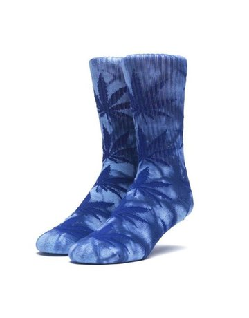 HUF TIEDYE PLANTLIFE SOCKS - BLUE