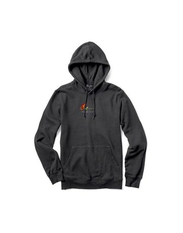 PRIMITIVE BURNING PIGMENT DYED HOOD - BLACK