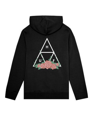HUF CITY ROSE P/O HOODIE - BLACK