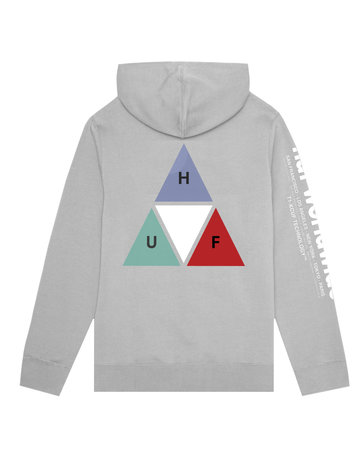 HUF PRISM TT P/O HOODIE GREY HEATHER