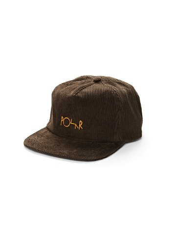 POLAR CORD 5-PANEL CAP - BROWN