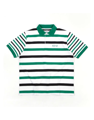 POLAR HALLS RUGBY SHIRT - WHITE/GREEN