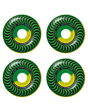 SPITFIRE FORMULA FOUR CLASSIC SWIRLS GREEN/YELLOW 52MM 99A