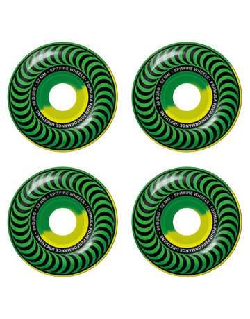 SPITFIRE FORMULA FOUR CLASSIC SWIRLS GREEN/YELLOW 52MM 99A