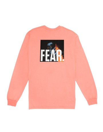 FUCKING AWESOME FEAR L/S TEE - CORAL SILK