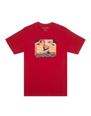 FUCKING AWESOME BRACE FACE TEE - RED