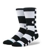 STANCE BARKLEY SOCKS - BARKLEY STRIPE BLACK WHITE