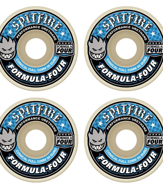 SPITFIRE FORMULA FOUR CONICAL FULL BLUE - 52MM 99A