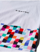 DIAMOND PIXEL PANEL TEE - WHITE