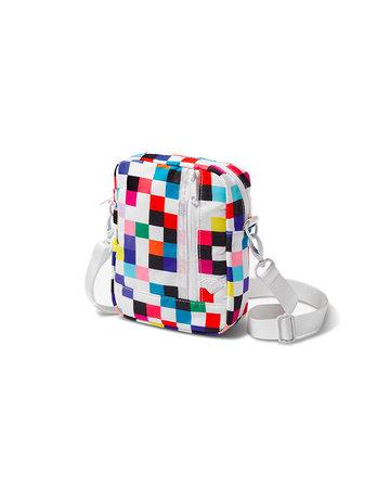 DIAMOND PIXEL SHOULDER BAG - WHITE
