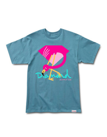 DIAMOND FLAMINGO SIGN TEE