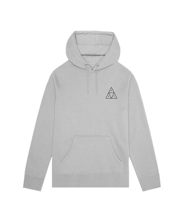 HUF ESSENTIALS TT P/O HOODIE - GREY HEATHER