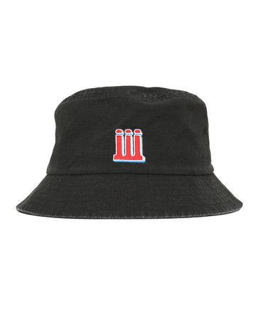 PIILGRIM BOUNCE BUCKET HAT - BLACK