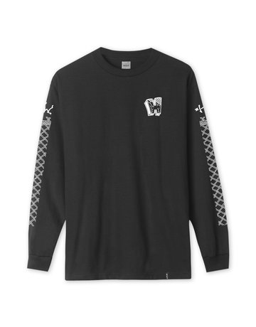 HUF PAVILLION L/S TEE - BLACK