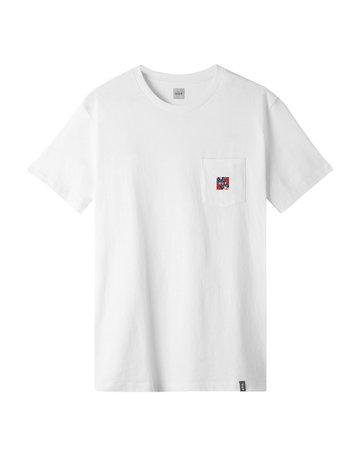 HUF SEMITROPIC S/S POCKET TEE - WHITE