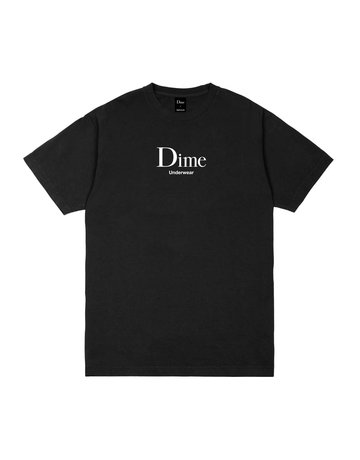 DIME DIME UNDERWEAR T-SHIRT - BLACK