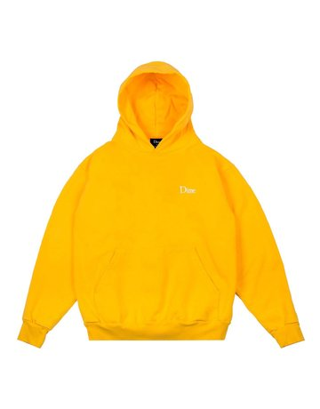 DIME DIME CLASSIC EMBROIDERED HOODIE - YELLOW