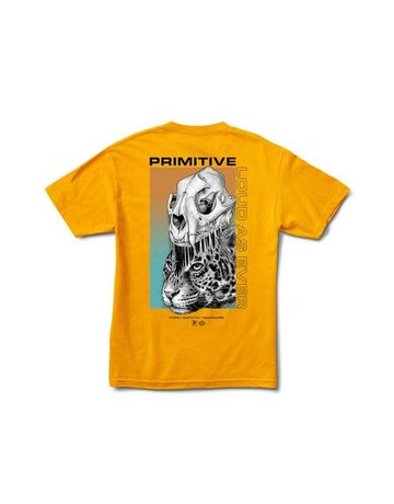 PRIMITIVE JUNGLE TEE - GOLD