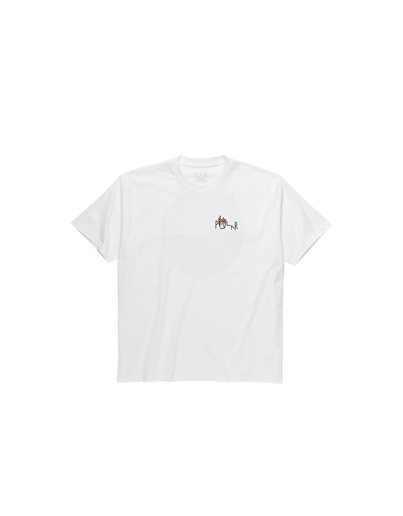 POLAR CASTLE FILL LOGO TEE - WHITE