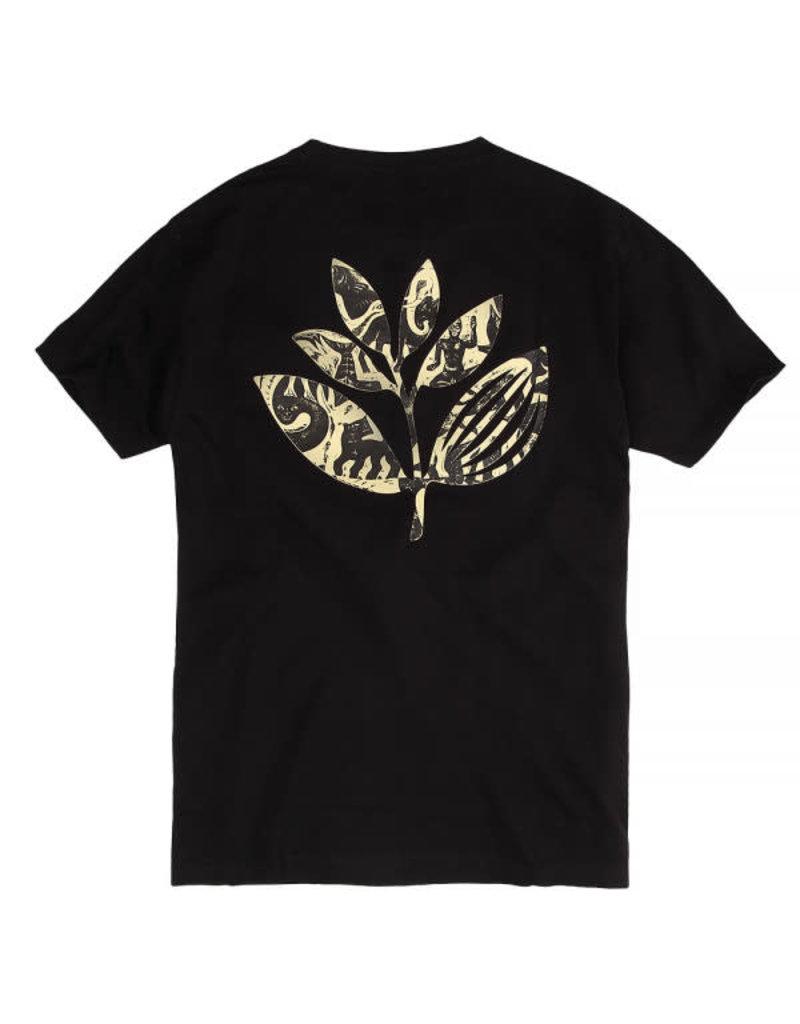 MAGENTA ZOO PLANT TEE - BLACK