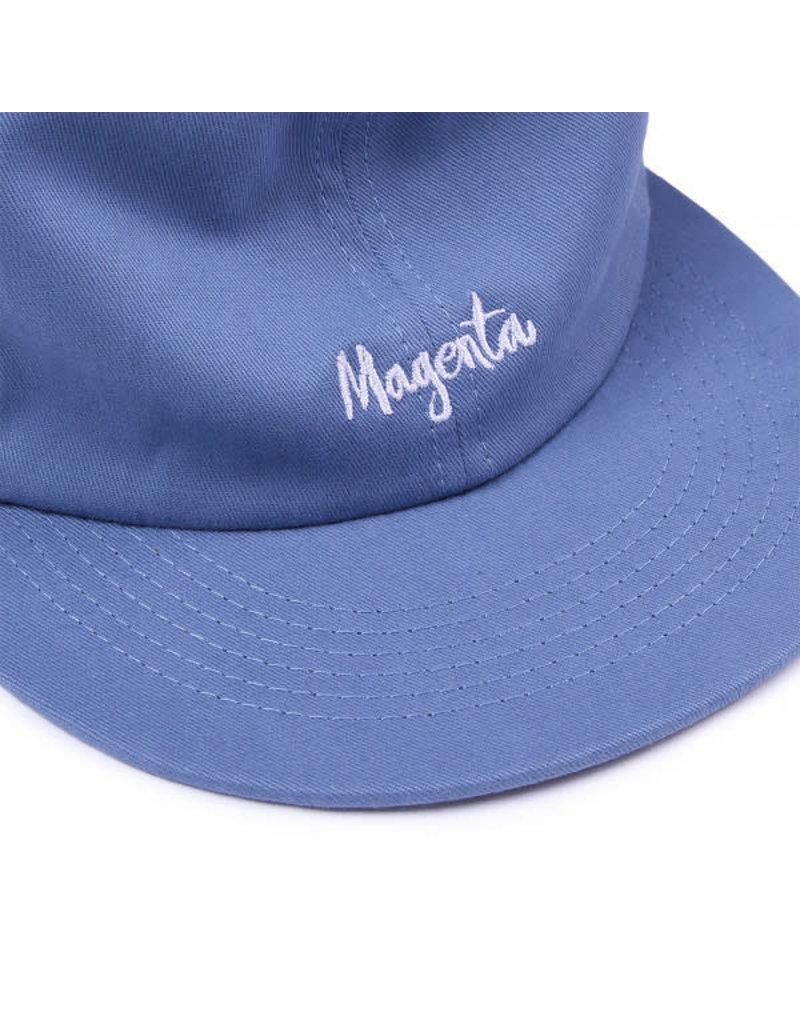 MAGENTA SCRIPT 6P HAT - BLUE