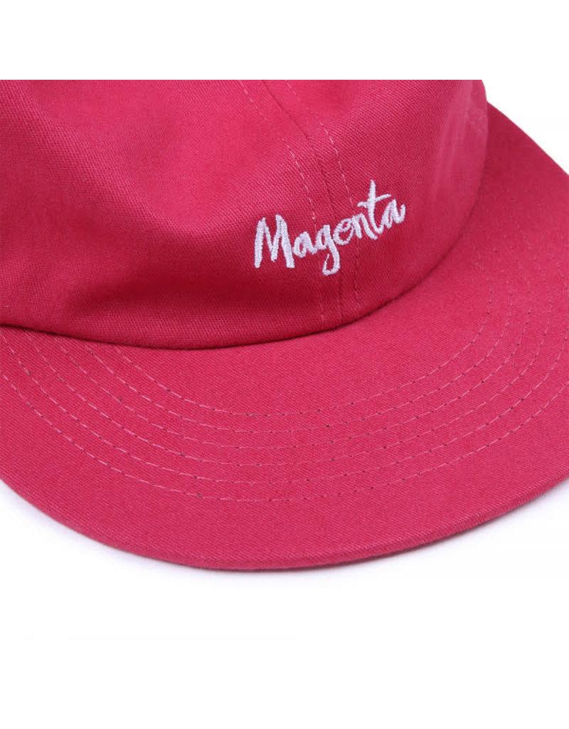 MAGENTA SCRIPT 6P HAT - ROSE