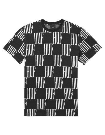 HUF BIG CHECKED S/S KNIT TOP - BLACK