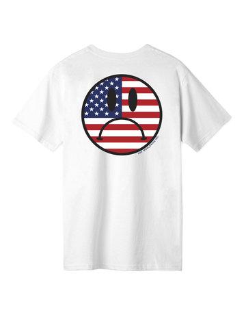 HUF BUMMER USA S/S TEE - WHITE