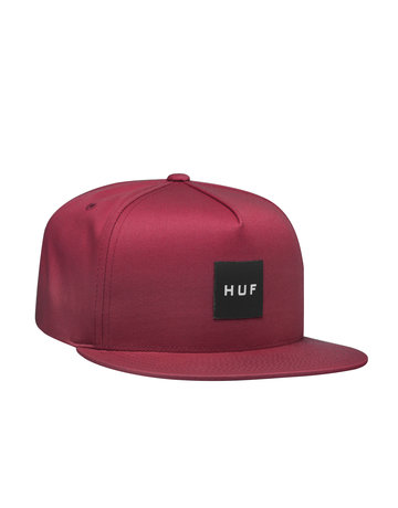 HUF ESSENTIALS BOX SNAPBACK HAT - ROSE WOOD RED