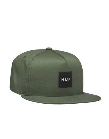 HUF ESSENTIALS BOX SNAPBACK HAT - ARMY