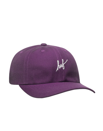 HUF HUF SCRIPT CV 6 PANEL HAT - PURPLE VELVET