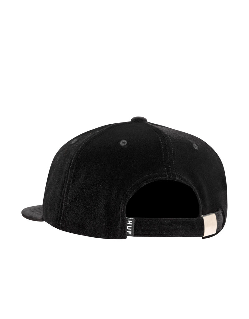 HUF BED OF ROSES 6 PANEL HAT - BLACK