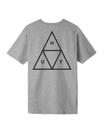 HUF ESSENTIALS TT S/S TEE - GREY HEATHER