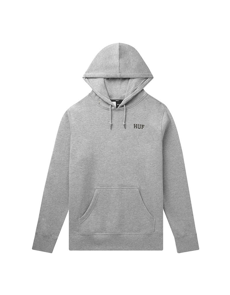 HUF DYSTOPIA CLASSIC H PULLOVER HOODIE - GREY HEATHER