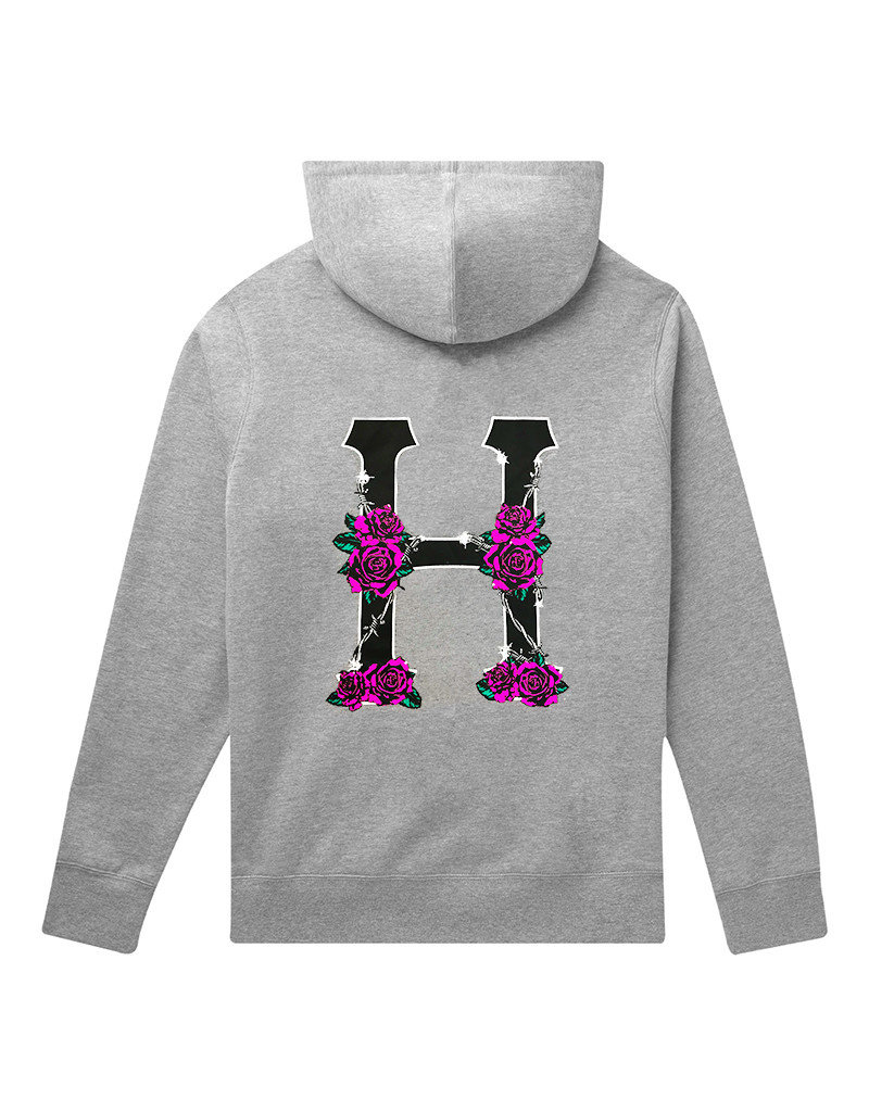 HUF DYSTOPIA CLASSIC H P/O HOODIE - GREY HEATHER