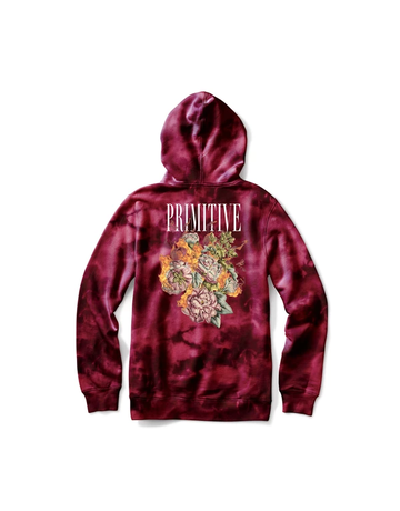 PRIMITIVE REVENGE HOOD - BURGUNDY WASH