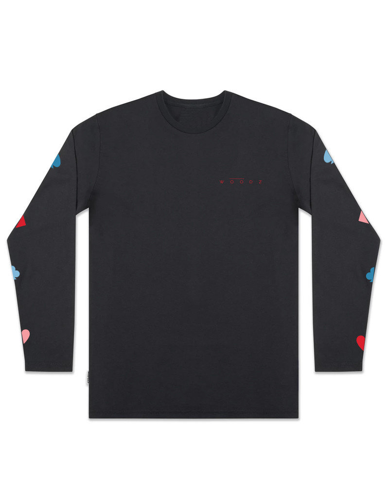 WOODZ CARDZ - JOKER L/S TEE - BLACK